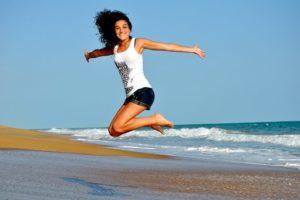 sauter, bouger, libre, en mouvement, plaisir