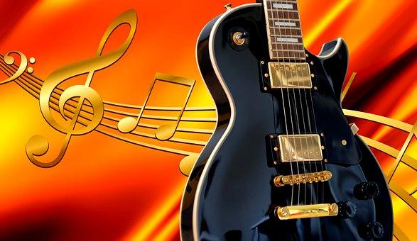 guitare, musique, joie, écouter la musique, apprécier la musique