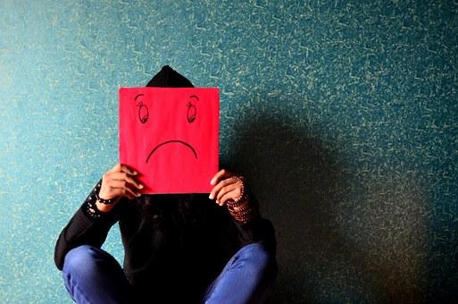 chagriné, déprimé, contrarié