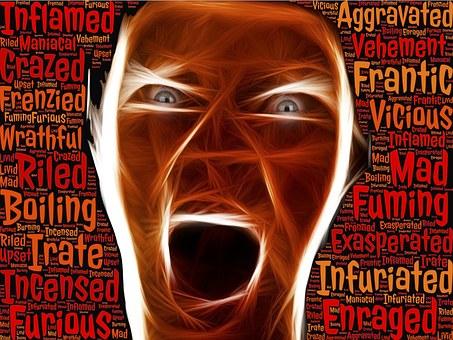 colère, rage, gérer la colère, furieux,